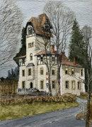 Kitzbuhel house 36x26cms