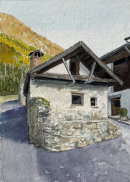 Ruined House, Galsaun, Val Venosta 28x20cms