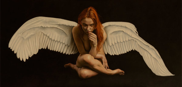 Angels #1 - Broken Wing (oil)
