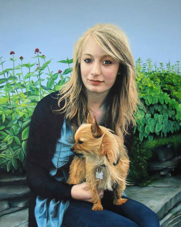 Ellie and Ozzi (oil)