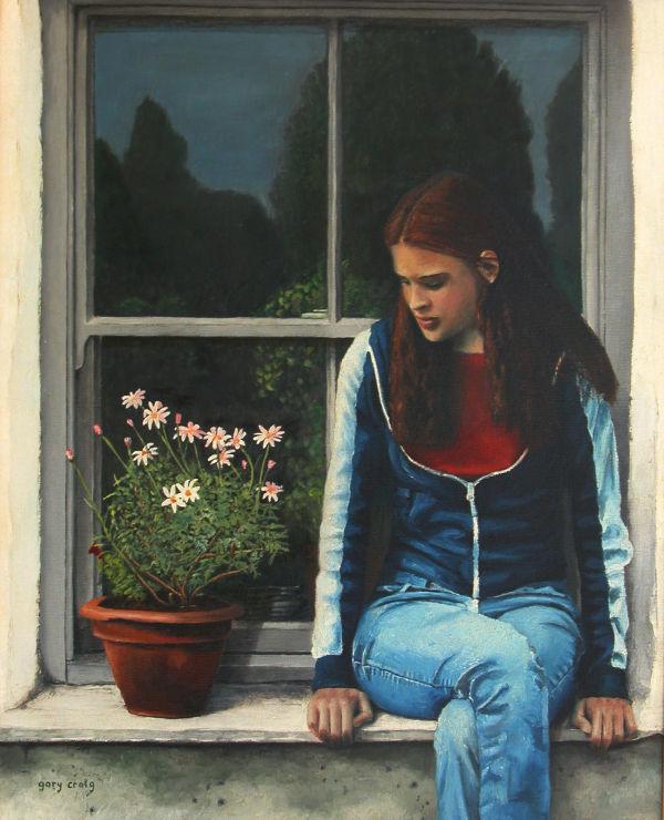 On the Windowsill (oil)