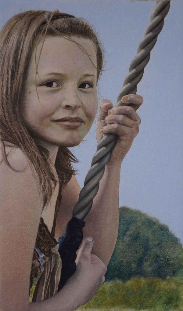 Girl on a Swing (oil)