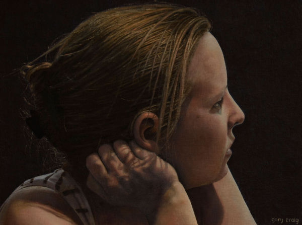 Hair and Hand (oil)