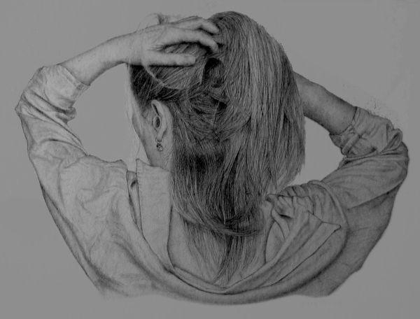 Hair up or down (pencil)