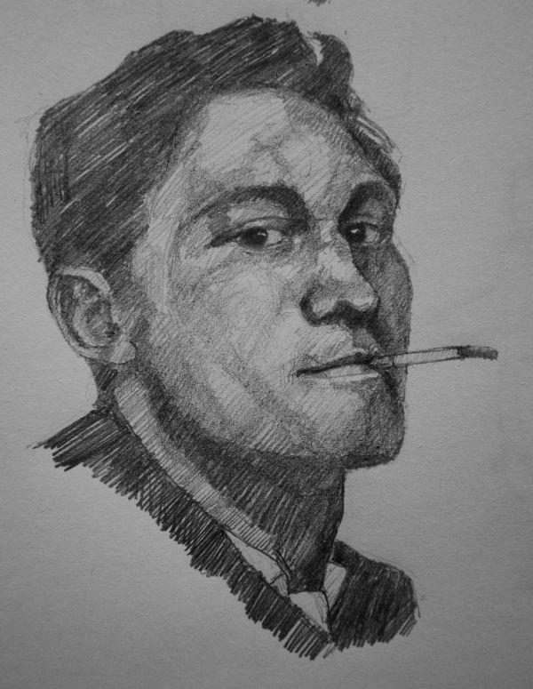 The smoking man (pencil)