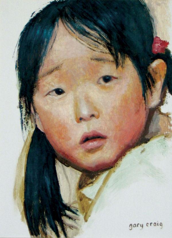 Head of Japanese Girl (oil)