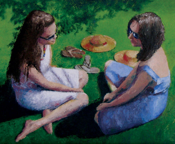 On the Lawn (oil)