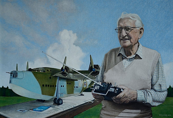 Portrait of Basil Lockwood Goose - oil
