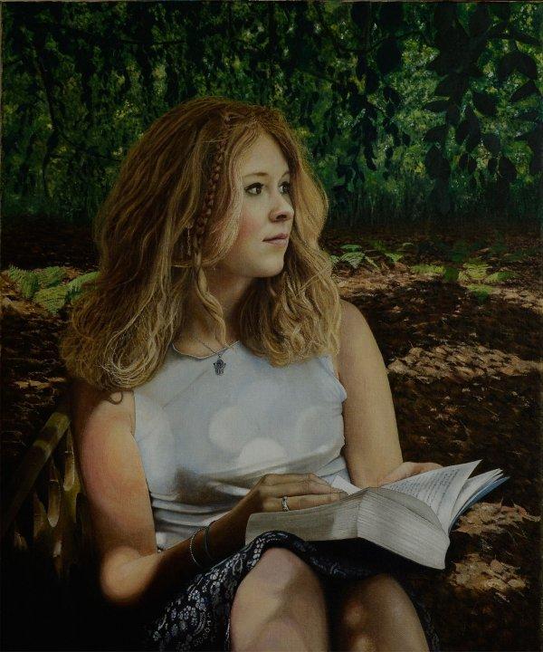 Portrait of Georgina Jack - oil