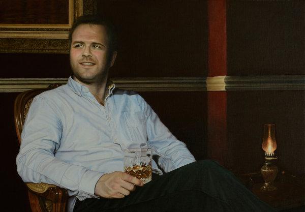 Portrait of Paul Watson - oil