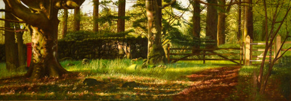 Post Box in the Landscape #3 (oil)