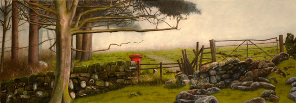 Post Box in the Landscape #4 (oil)