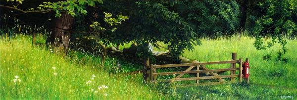 Post Box in the Landscape #6 - oil