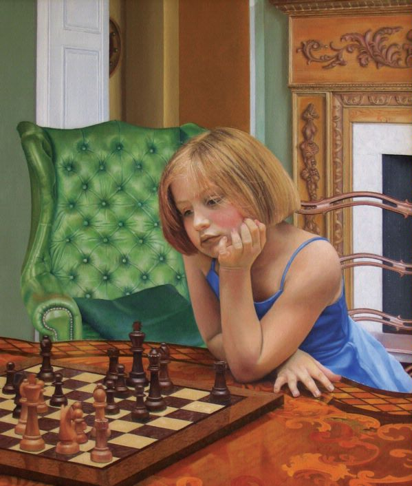 The Chess Game (oil)