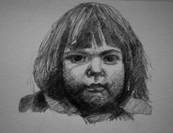 Study of girl (pencil)