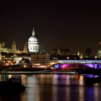 St Pauls - Blackfriars Bridge - Night View