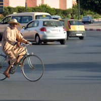 Man on Bike - Morocco