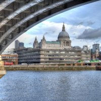 St Pauls from Under Blackfriars Bridge 2
