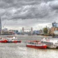 Thames on a cold London day