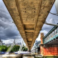 Under Charring Cross Bridge