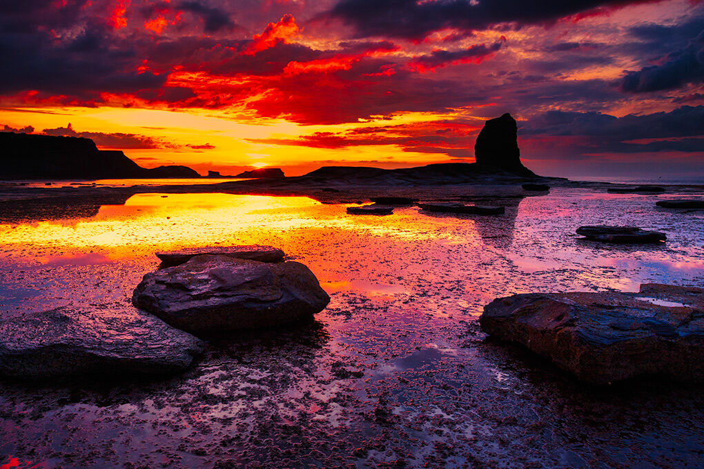 SUNSET AT SALTWICK