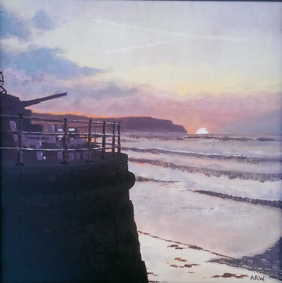 Sandsend Sunset by Allan White