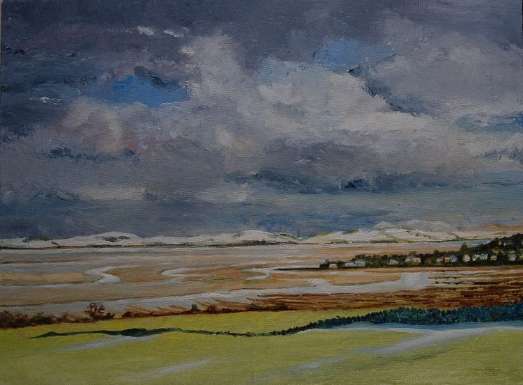 "Carsethorne on Solway -oil 16""x12"" by Willie Drea"