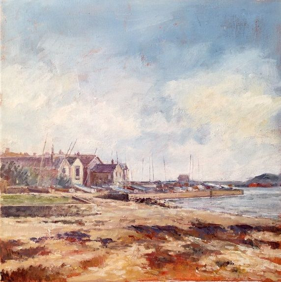 Alnmouth Estuary -acrylic by Anne Roberts