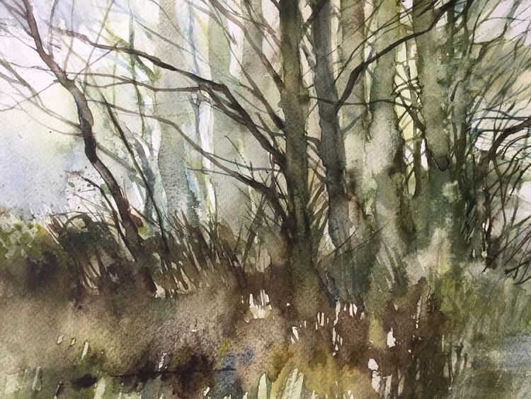 84 Winter Wood -watercolour by Anne Roberts