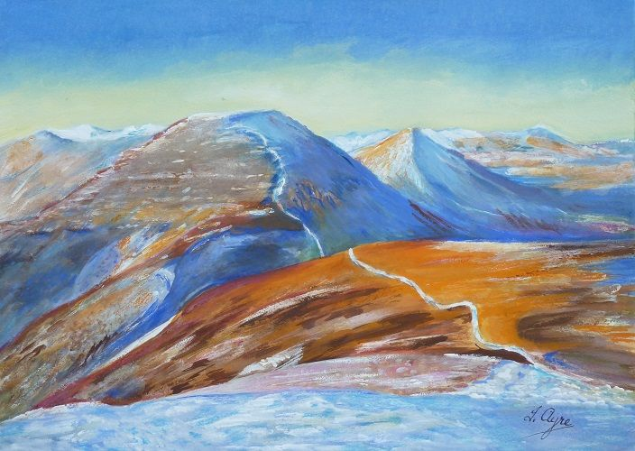 Mountains in Snow by Irene Ayre