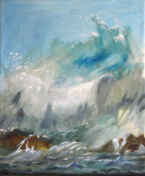 Willie Drea, Biggest Splash -oil on canvas board