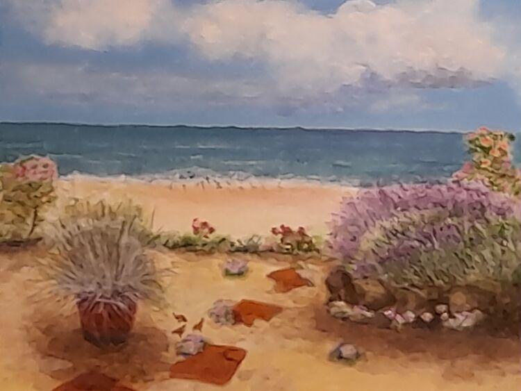 Alison Fereday, 'Seaside Garden Newbiggin'