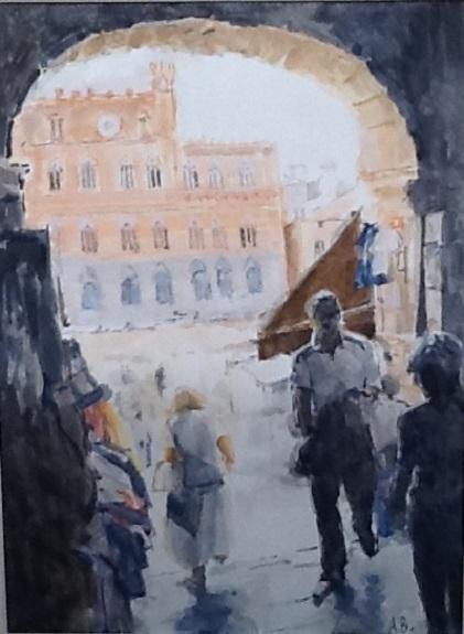 Siena by Anne Brown, -gouache