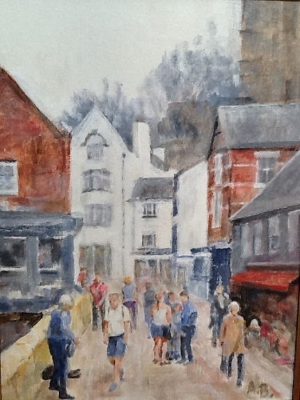 Durham, Framwelgate by Anne Brown, -gouache