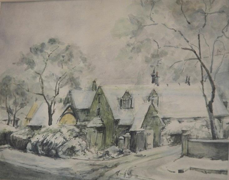 Snow -gouache by Anne Brown