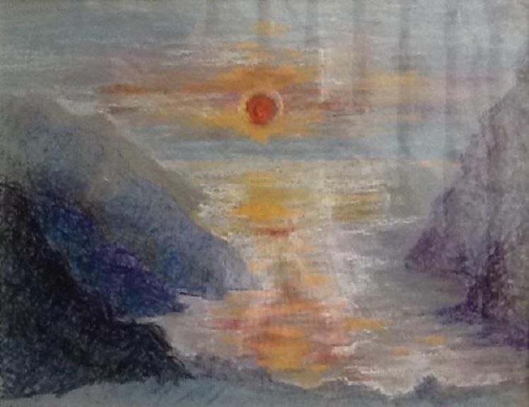 Sunrise by Anne Brown. Pastel