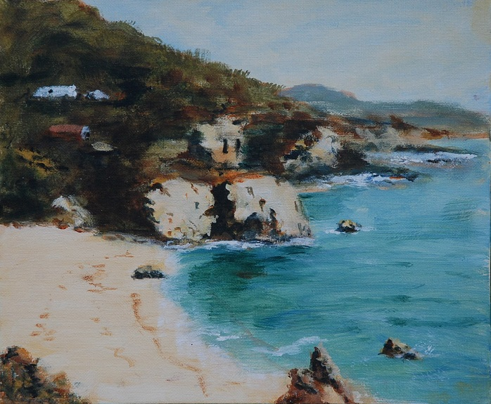 California Coast by Audrey Drynan. -acrylic