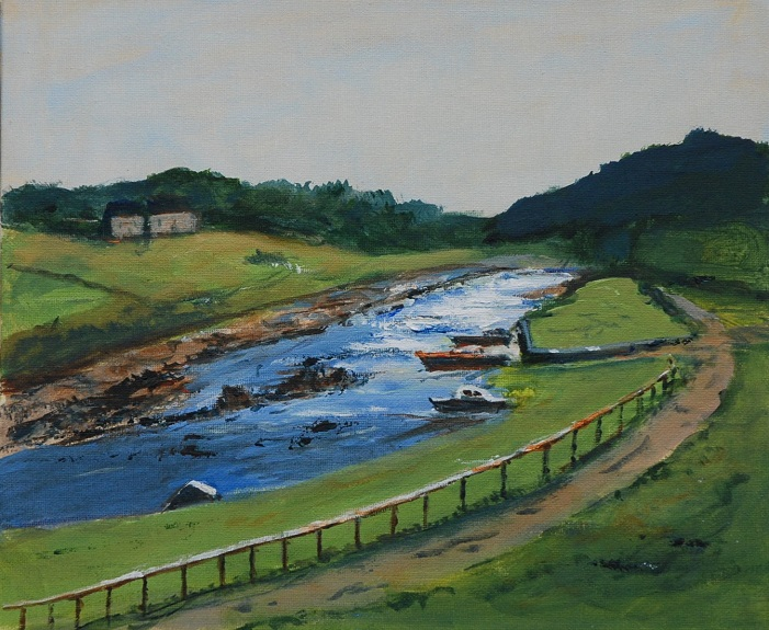 27 -Seaton Sluice by Audrey Drynan. -acrylic