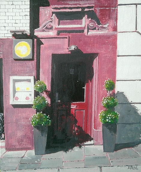 High Bridge St Doorway by Allan White. -acrylic