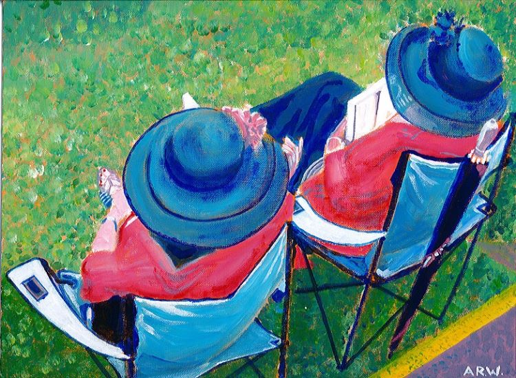Ladies Day by Allan White. -acrylic