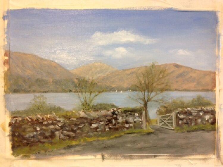 Alla Prima Lake District John Fulthorpe