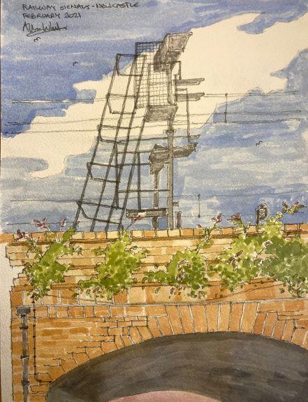Allan White -'Railway Signals, Newcastle'