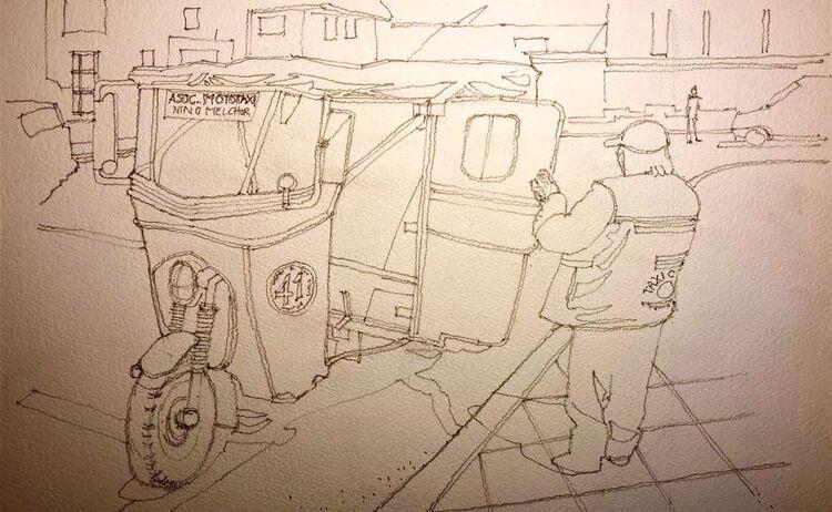 Allan White ' Mototaxi Peru '- Sketch