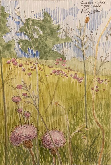 Allan White ' Riverside, Wark '