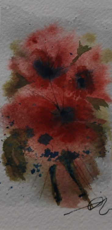 Flowers Allla Prima -watercolour by Tim Griffiths
