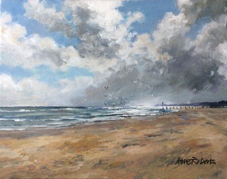 Anne Roberts, An Autumn Walk on the Beach