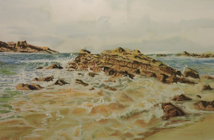 Devon Seashore by Brian Wilson, -acrylic