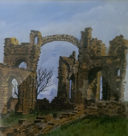 Lindisfarne by Brian Wilson. -mixed media