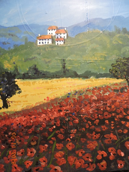 Poppyfield by Brian Wilson, -acrylic