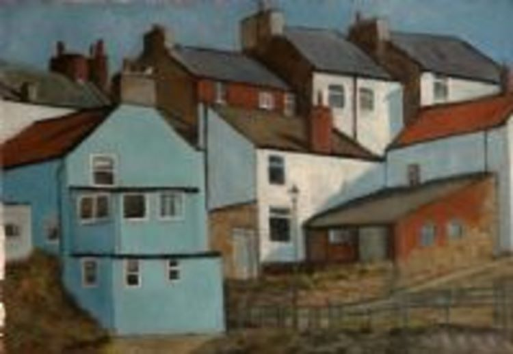 Blue House Staithes by John Fulthorpe